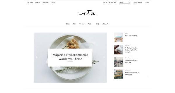 Weta - Shop Theme for WordPress - WooCommerce ready