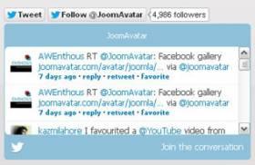 Avatar Twitter Widget - Free Twitter Widget for Joomla 2.5 by JoomAvatar