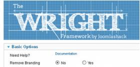 Wright Framework - minimalistic fast loading Template Framework for Joomla 2.5