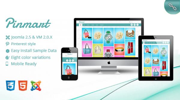 Pinmart - Joomla VirtueMart Template