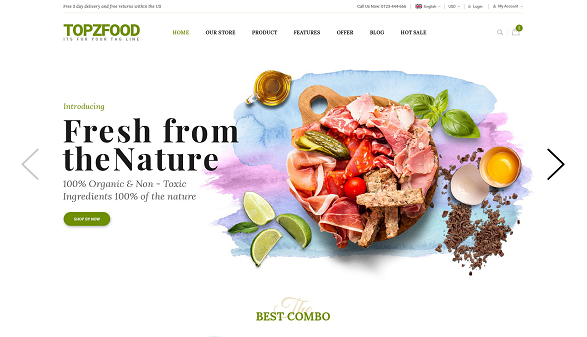 [PREVIEW] Sj TopzFood - A Delicious Food & Restaurant Joomla VirtueMart Template