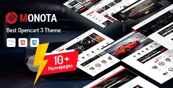 Monota - Auto Parts, Tools, Equipments Store OpenCart Theme