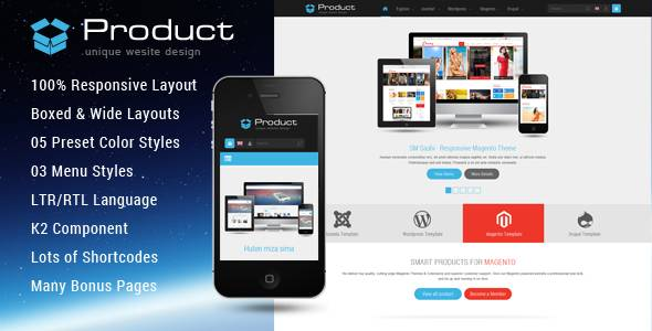 SJ Product - Responsive Joomla Template for product