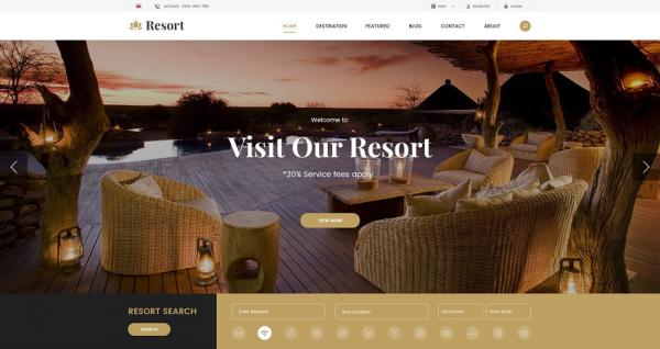 [PREVIEW] Sj Resort II - Luxury Hotel & Resort Responsive Joomla Template