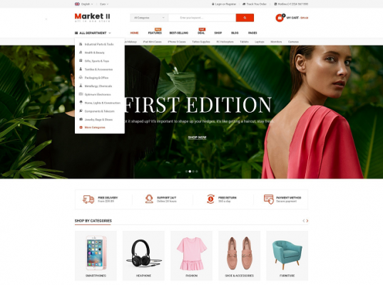 [PREVIEW] Sj Market II - A Beautiful eCommerce Joomla Responsive Template