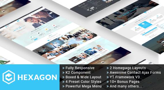 SJ Hexagon - Professional Responsive Business/Corporate Joomla Template