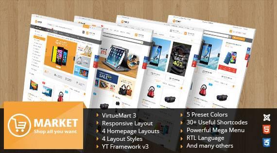 SJ Market - Multipurpose VirtueMart 3 Joomla Template