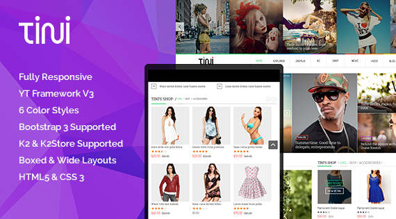 SJ Tini - Beautiful Multipurpose Joomla Template