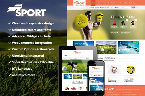 SW Sport - A responsive multipurpose theme for WordPress