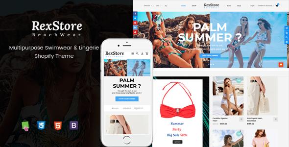 RexStore - Multipurpose Swimwear & Lingerie Shopify Theme