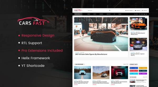 CarsFast - Responsive Cars Joomla Template | 30% Off Storewide