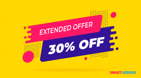 SmartAddons Sale Extended: 30% OFF All Products and Memberships