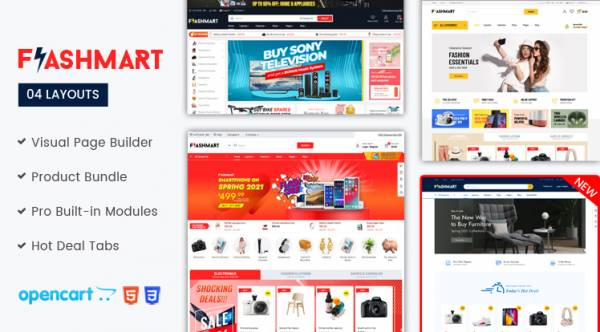 Design #4 Available in FlastMart - Supermarket OpenCart Theme