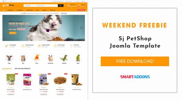 [Weekend Freebie] Free Download Sj PetShop Joomla Template