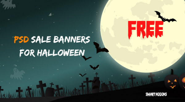 10 Free Graphic Sale Banner Templates in PSD for Halloween