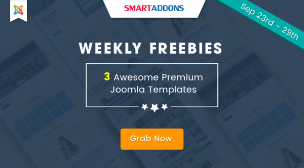 SmartAddons Weekly Freebie #3: Grab 3 Premium Joomla Templates For FREE