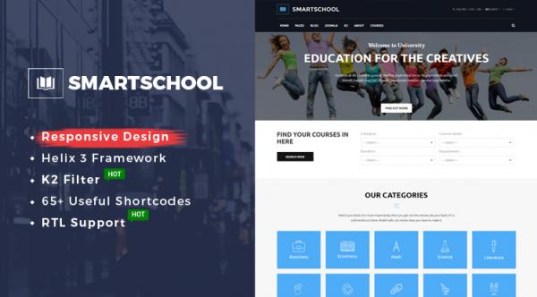 Sj SmartSchool - Professional School, Education Joomla Template