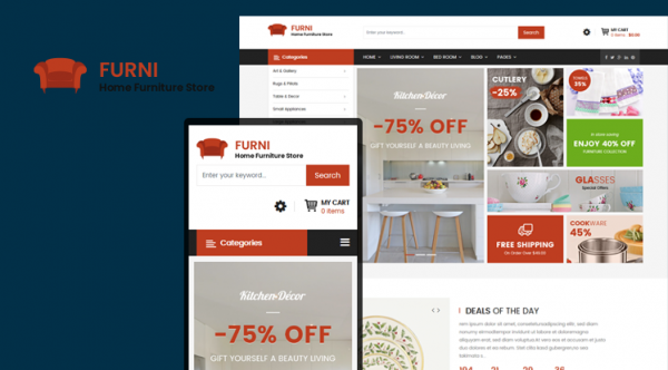 Sj Furni - Clean Furniture Joomla VirtueMart Template