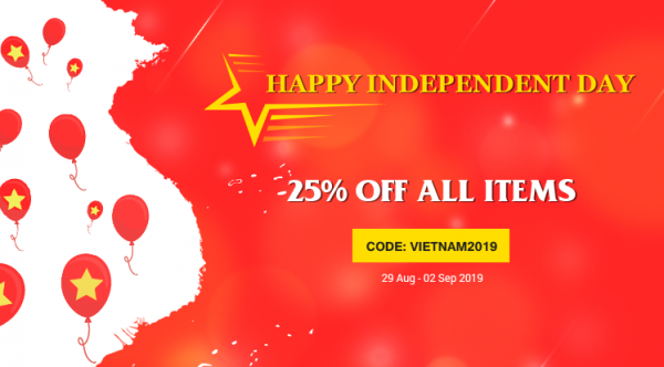 Happy Vietnamese Independence Day: 25% OFF for All Products & Subscriptions