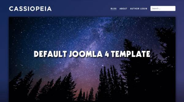 Cassiopeia - Default Frontend Joomla 4 Template