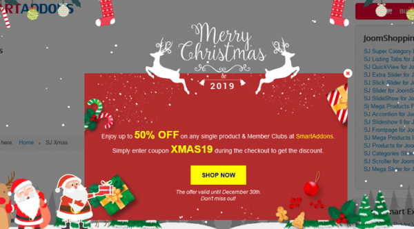 Hot Update on SJ Xmas - Free Responsive Joomla! Module