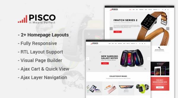 Pisco - Hitech Store WooCommerce WordPress Theme