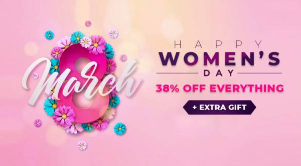 Women's Day Sale: Save up to 43% OFF Storewide