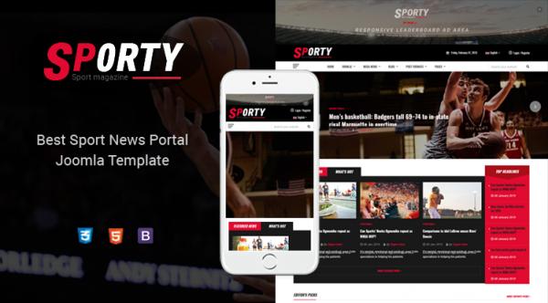 Sj Sporty - Professional Sports News Joomla Responsive Template