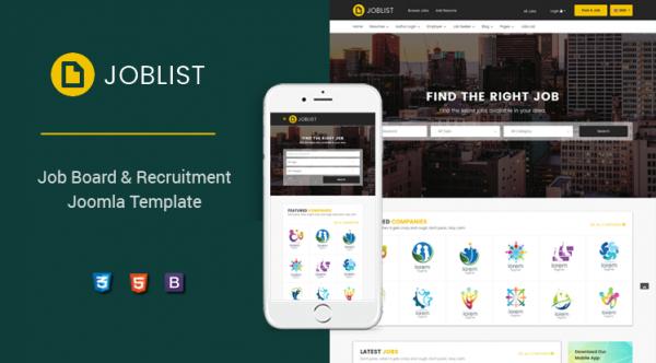Sj JobList - Responsive Job Board & Recruitment Joomla Template