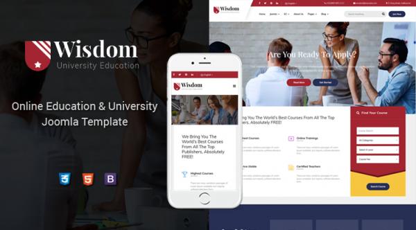 Sj Wisdom - Premium Education Joomla Template