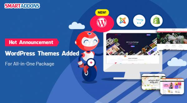 [SmartAddons's Announcement] WordPress Themes Added for All-in-One Package