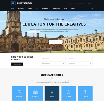 [PREVIEW] Sj SmartSchool - Elegant School, Education Joomla 3.7 Template