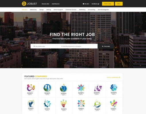 [PREVIEW] Sj JobList - Professional Joomla Job Board Template