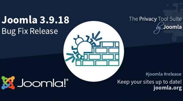 Joomla 3.9.18 & Joomla 3.9.17 - Bug Fix & Security Release
