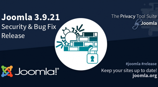 Joomla 3.9.21 Security & Bug Fix Release
