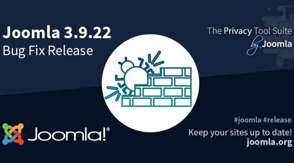 Joomla 3.9.22 Bug Fix Release