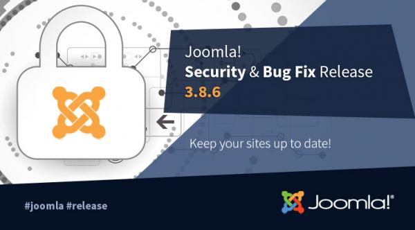 Joomla! 3.8.6 Security & Bug Fix Release