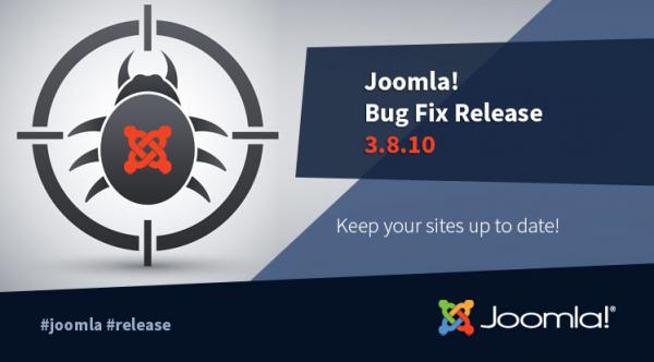 Joomla! 3.8.10 Bug Fixes Release