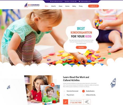 [PREVIEW] Sj KidCourses - Elegant Joomla Template for Kindergarten