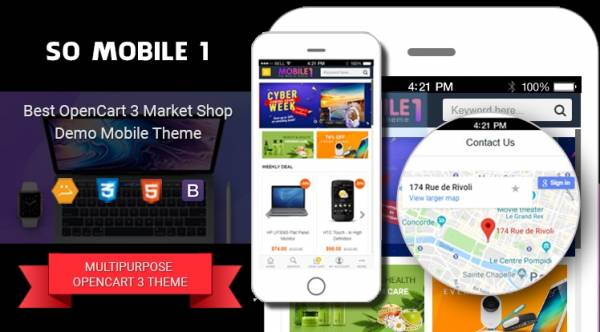 So Mobile 1 - Multipurpose OpenCart 3 Theme (For Mobile Only)