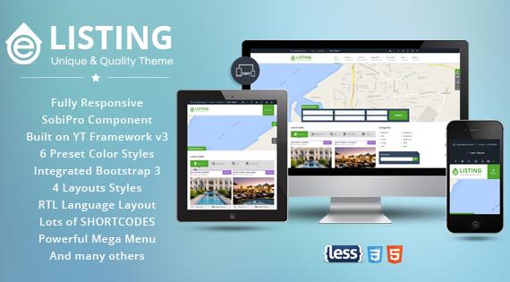 SJ eListing - Exquisite Joomla Template for Real Estate Websites