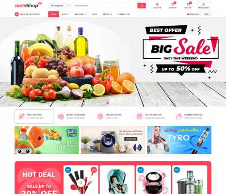 [PREVIEW] Sj JoomShop - Elegant eCommerce Joomla Template with JoomShopping Based