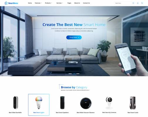 [PREVIEW] Sj SmartHome - Smart Home Devices Joomla Website Template
