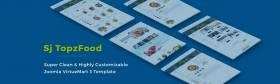 Sj TopzFood - Delicious Food & Restaurant Joomla VirtueMart Template