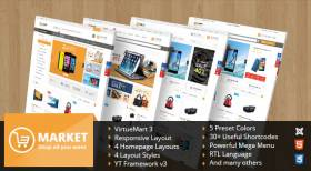 SJ Market - Multipurpose VirtueMart 3 Joomla Template