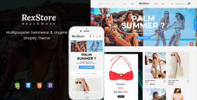 RexStore - Multipurpose Swimwear & Lingerie Shopify Theme