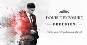Beautiful Double Exposure PSD, Stocks & Brushes for Website