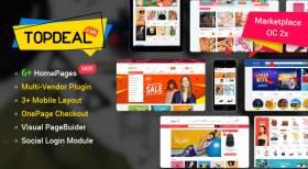 TopDeal - MarketPlace Multi Vendor OpenCart Theme