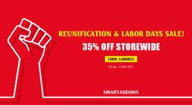 Reunification & Labor Days Sale! 35% OFF on Storewide