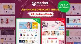 [UPDATE] All-in-One OpenCart Theme eMarket V1.3.0 With Hot Features Added